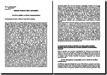 Commentaire de l'arrêt Paul Corbeau rendu par la CJCE le 19 mai 1993