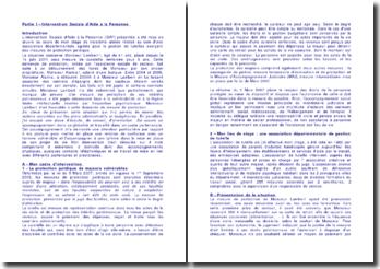 Etude de deux rapports de stage effectués au seins d'associations sociales