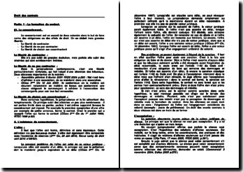 Droit des contrats - spécificités des contrats et théorie générale de l'obligation
