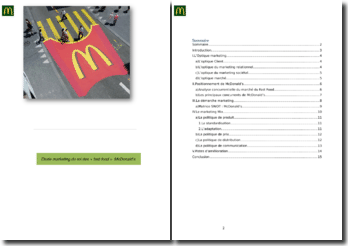 Etude marketing du roi des « fast-food »: McDonald's