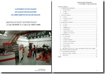 Lancement d'une chaîne de garages moto-scooter en libre-service en Ile de France