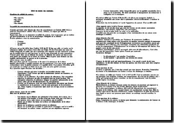 Les conditions de validité du contrat et la qualité du consentement