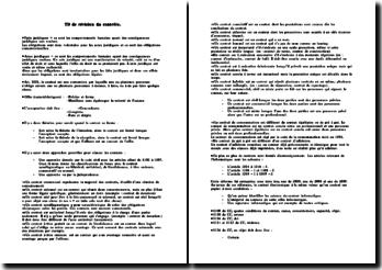 Révisions générales sur le contrat et sur sa formation