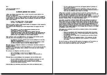 La théorie générale des contrats sur les droits et les collaborations