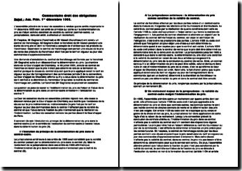 Cour de cassation, Chambre civile, 1er décembre 1995 : la détermination du prix de l'objet comme condition de validité du contrat