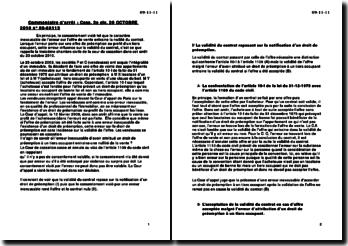 Cour de cassation, troisième Chambre civile, 20 octobre 2010: l'erreur portant sur une offre de préemption au profit d'un tiers occupant