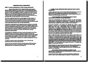Le contrat administratif et l'office du juge administratif