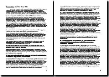Cour de cassation, Assemblée plénière, 19 mai 1988: la responsabilité du commettant