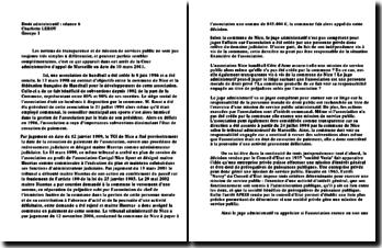 Arrêt de la Cour administrative d'appel de Marseille, 10 mars 2011: la transparence et la mission de services public