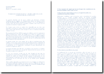 Commentaire de la décision de la 1ère Chambre civile de la Cour de cassation en date du 12 janvier 2012