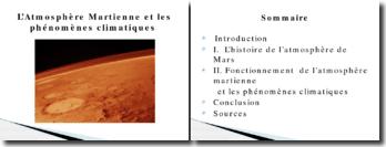 L'atmosphère martienne et les phénomènes climatiques