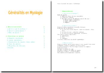 Anatomie descriptive: la myologie
