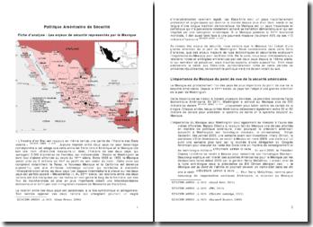 Les enjeux de sécurité représentés par le Mexique