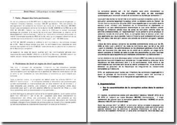 Etude d'un cas pratique de corruption et d'abus de biens sociaux en droit pénal: le cas de Mr Malint