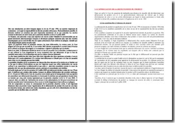 Commentaire d'arrêt de la première Chambre civile de la Cour de cassation, 9 juillet 2009: l'appréciation de la défectuosité d'un produit