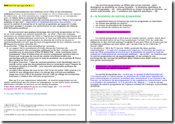 Le contrat d'entreprise et le contrat programme