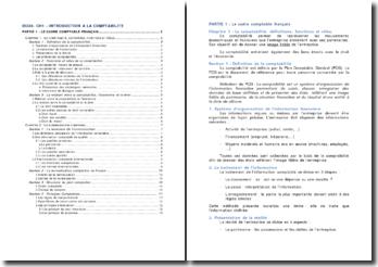 Le cadre comptable français