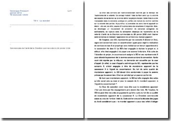 Commentaire de l'arrêt de la Chambre commerciale de la Cour de cassation du 29 janvier 2008: la théorie du mandat apparent