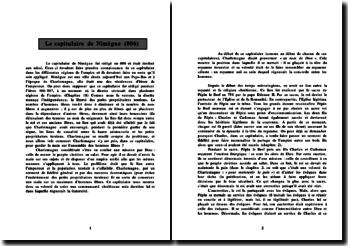 Le capitulaire de Nimègue (806)