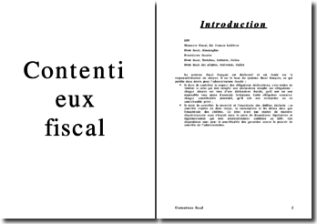 Le contentieux fiscal
