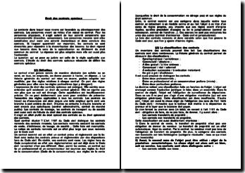 Les contrats spéciaux ayant pour objet un droit relatif à une chose et ayant pour objet une prestation de service