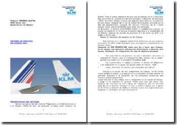 Informe de pratica en el servicio contable de Air France en Madrid