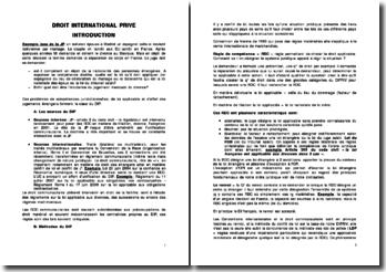 Les compétences juridictionnelles en droit international privé