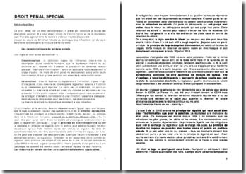 L'étude du catalogue des infractions et de leurs sanctions en droit pénal spécial