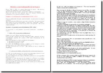 L'histoire constitutionnelle de la France