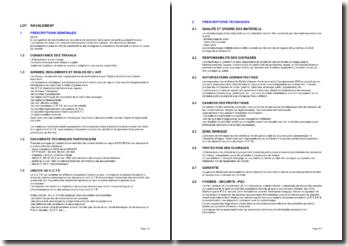 Bibliothèque d'articles pour les cahiers des clauses techniques particulières (CCTP): le ravalement