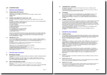 Bibliothèque d'articles pour les cahiers des clauses techniques particulières (CCTP): la charpente bois