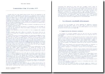Commentaire d'arrêt de la Chambre criminelle de la Cour de cassation du 12 octobre 1977: les crimes d'arrestation et de séquestration illégale