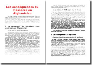 Les conséquences du massacre en Afghanistan