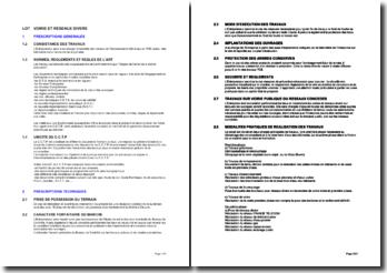 Bibliothèque d'articles pour les cahiers des clauses techniques particulières (CCPT): les voiries et réseaux