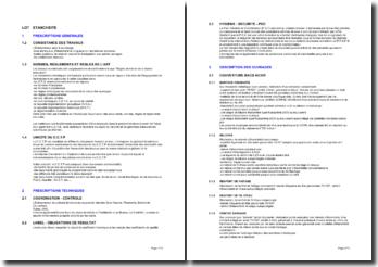 Bibliothèque d'articles pour les cahiers des clauses techniques particulières (CCTP): l'étanchéité