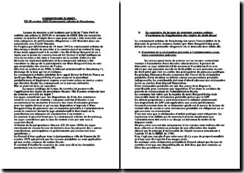 Commentaire d'arrêt du Conseil d'Etat rendu le 28 octobre 2002, Communauté urbaine de Strasbourg: la taxe de trottoirs