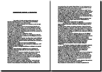 Commentaire comparé de la Première Chambre civile du 17 mars 1992 et de la Chambre Commerciale du 25 février 1992: la délégation