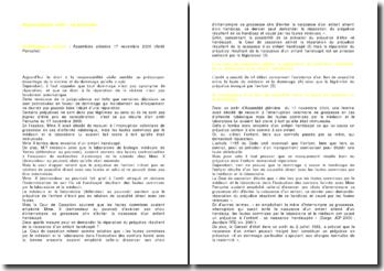 Commentaire d'arrêt de la Cour de cassation de l'Assemblée plénière rendu le 17 novembre 2000: l'arrêt Perruche