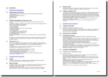 Bibliothèque d'articles pour les cahiers des clauses techniques particulières (CCTP): plâtrerie