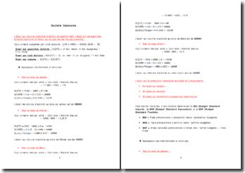 Etude de cas: le volume d'activité de la société Cadourex
