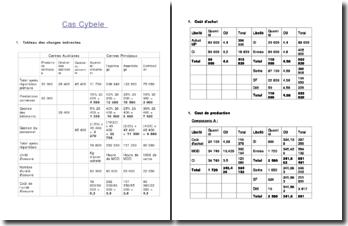 Etude de cas en comptabilité: le cas Cybele