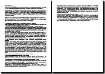 Commentaire d'arrêt rendu par la Troisième Chambre Civile de la Cour de cassation le 3 novembre 2011: la sanction du pacte de préférence