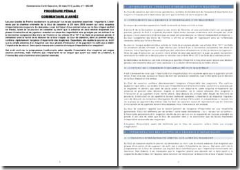 Commentaire d'arrêt de la Chambre criminelle de la Cour de cassation rendu le 28 mars 2012: l'impartialité d'un magistrat