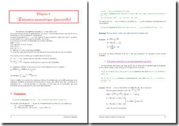 L'estimation paramétrique ou estimation ponctuelle