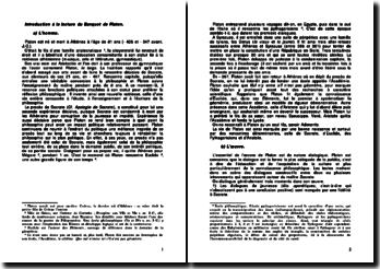 Introduction à la lecture du Banquet de Platon