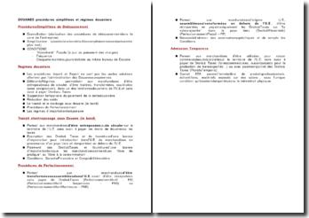 Douanes: procédures simplifiées et régimes douaniers