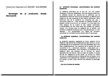 Sociologie de la modernité - Danilo Martuccelli