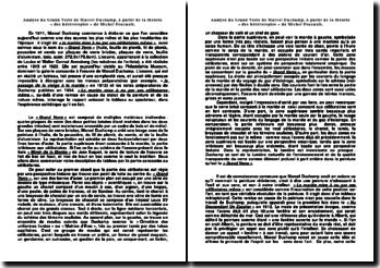 Analyse du Grand Verre de Marcel Duchamp, à partir de la théorie « des hétérotopies » de Michel Foucault