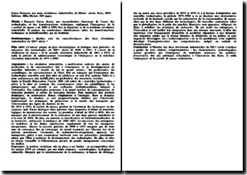 Les deux révolutions industrielles du XXème siècle - Caron François: les caractéristiques des deux révolutions industrielles du XXème siècle