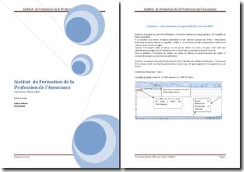 Formation au logiciel Excel 2007